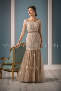 Jade Couture Style K188016 in Latte/Latte Shadow Lace, Netting, & Malay Satin/Inner shell