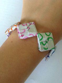 DIY Paper Bracelet  #paper_craft #origami
