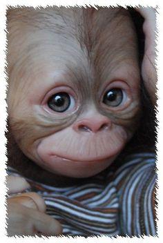 Reborn CUSTOM MADE BINDI ooak doll lifelike fake doll Monkey Chimpanzee Chimp