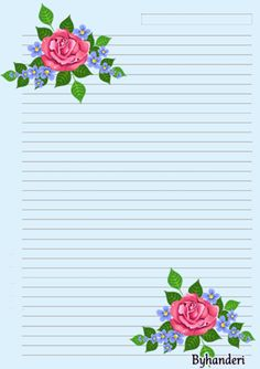 ✼ ✻ ✺ ✹Byhanderi✸ ✷ Printable Lined Paper, Free Printable Stationery, Stationery Craft, Lined Writing Paper, Writing Papers, Letter Writing, Notebook Paper, Journal Paper, Note Paper