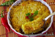 #BomDia! Sem ideias para o #almoço? Este Escondidinho de Frango com Couve Flor é delicioso, leve, econômico e super fácil!  #Receita aqui: http://www.gulosoesaudavel.com.br/2013/07/30/escondidinho-frango-couve-flor/