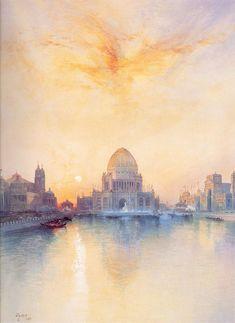 Thomas Moran (1837-1926)  Chicago World's Fair, Watercolor on paper, 1894