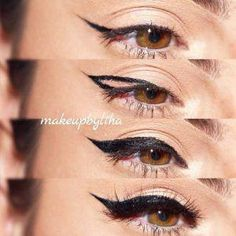 How to Apply Eyeliner for Beginners picture 4 – Make Up Time Eyeliner Hacks, Eyeliner Styles, Eyeliner Ideas, How To Use Eyeliner, Perfect Eyeliner, Perfect Lipstick, Make Up Geek, Eyeliner For Beginners, Makeup Tips For Beginners