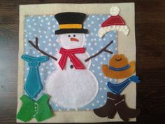Snowman quiet book page (image only)