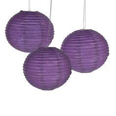 Plum Paper Lanterns - 6 Pk Party Supplies Canada - Open A Party Purple Party Decorations, Bridal Shower Decorations, Wedding Decorations, Prom Decor, Wedding Supplies, Wedding Favors, Party Supplies, Wedding Ideas, Wedding 2015
