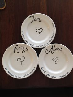 DecoArt glass marker u0026 an upcycled plate u003d) & Draw On a Plate and Make It Permanent! | Pinterest | Ceramic plates ...
