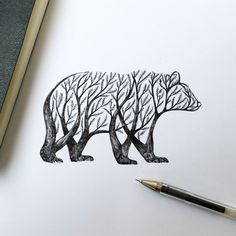 Would be an Amazing tattoo Bear Tree By Alfred Basha