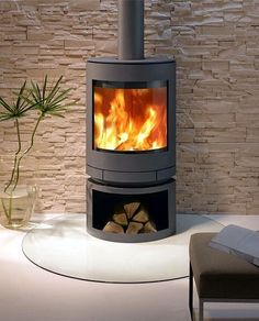 Skantherm Emotion woodheater by Abbey Fireplaces. Wood Burner Stove, Wood Burner Fireplace, Home Fireplace, Log Burner, Fireplace Design, Wood Stoves, Fireplace Ideas, Contemporary Wood Burning Stoves, Corner Stove