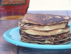 Ultimate Coconut Flour Pancakes --  3 Tbs. coconut flour 3 eggs 2 Tbs. unsweetened applesauce 1 Tbs. melted butter or coconut oil, plus extra for the pan 3-4 Tbs. coconut milk 1/4 tsp. baking soda 1/4 tsp. apple cider vinegar