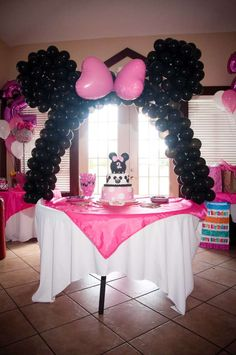 Minnie Mouse and Zebra Print Birthday Party Ideas | Photo 9 of 13 | Catch My Party