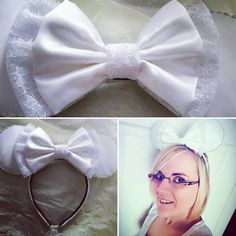 Bridal ears ready for our #disneymoon 👰💍❤ #tooexcited Thank you @mooremickeys  #bridalears #disneytheme #disneywedding #54days #mickeyears #custommade