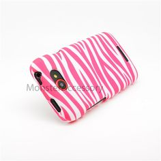 $7.95 > 10% Coupon Code : Pinthis Snap-on Rubber Coated Hard Case Cover For HTC One S,  White Pink Zebra