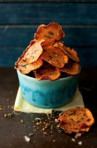 Orange Sweet Potato Chips - Paleo Recipe Site