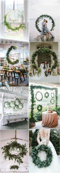 Wedding Decorations  Top 22 Creative DIY Wedding Wreath Ideas Worth Stealing  � More: http://www.weddinginclude.com/2017/05/creative-diy-wedding-wreath-ideas-worth-stealing/