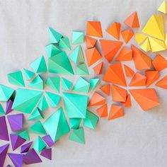 colorful geometric DIY backdrop