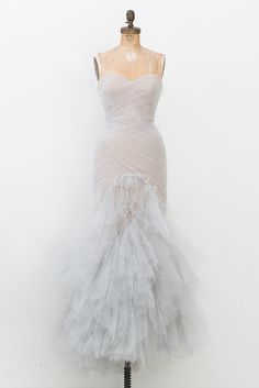 - Overview - To Purchase - Contract - DESCRIPTION: Soft blue Marchesa strapless gown with nude lining and features pleated tulle throughout bodice, layered ruffled skirt and concealed zip closure at c Marchesa, Dress Rental, Engagement Dresses, Engagement Session, Strapless Gown, Mermaid Gown, Gold Dress, Beautiful Gowns, Nice Dresses