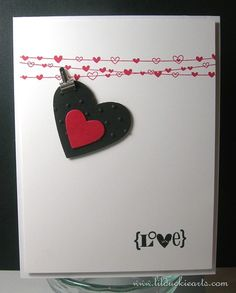 Simple Valentine Heart Card