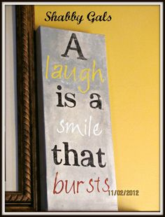 """A Laugh is a Smile that Bursts"" :: laughter is the best medicine #treatyourself #shopkick"