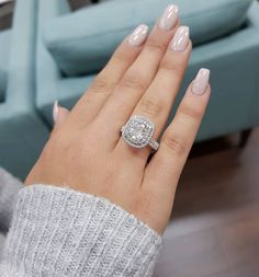"Diamond Engagement Rings on Instagram: ""SPARKLE SPARKLE Happy 22 year anniversary to our very special client Derya #2ct #cushioncut #seamlesshalo #perfection…"""