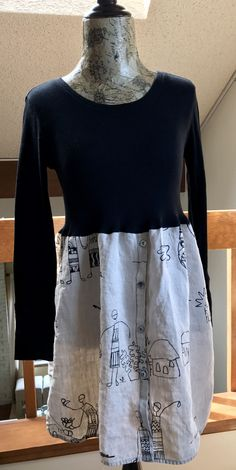 Sweet T shirt dress/tunic, very flattering