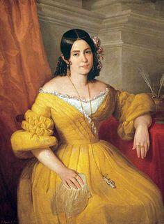 1840 Antonio María Esquivel - Gertrudis Gómez de Avellaneda