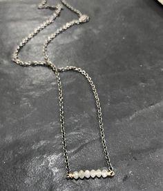 #simple #beautiful #raw #diamonds #oxidized #sterlingsilver #14ktgold #designer #jewelry #everyday wear #instyle #style #fashion #oiejewelry #jewellery #layer or stand alone
