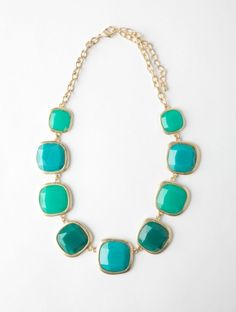 Turquoise gems statement necklace