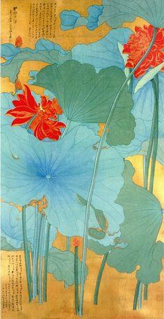 artsandcrafts28:    Lotus painting by Zhang Daqian