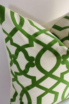 Lattice Trellis Ironwork Pillow Cover/ 12 x 18 or 12x20 Lumbar size