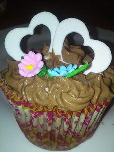 Cupcake de crema de mantequilla