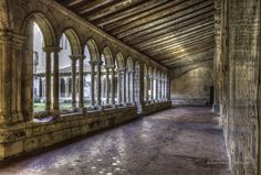 Cloister of the Collégiale church in St Emilion, Gironde, Aquitaine, France. UNESCO World Heritage Site ✯ ωнιмѕу ѕαη∂у