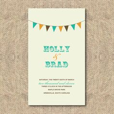 DIY Printable Wedding Program  Banner by iheartpaperandthread, $45.00