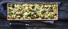 Maukas täysjyväspeltti sopii hyvin suolaiseen piirakkaan. Feta-parsakaalipiirakka on illanistujaisten ja buffetpöytien kestosuosikki. N. 0,50€/annos.