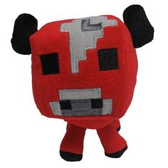 Minecraft Baby Mooshroom Stuffed Animal!!! I have that little cutie also!!! I have all the Minecraft animals!!!! I'm just that cool😎 I'm such an idiot 😂