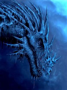 Very beautiful blue dragon - Artist unknown at this time.  I will research further.