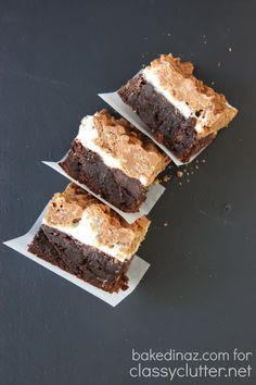 Marshmallow Crunch Brownies 1 box brownie mix (you can of course make your own) 3 cups miniature marshmallows 2 cups crisp rice cereal 3/4 cup milk chocolate chips 3/4 cup butterscotch chips 1/4 cup peanut butter