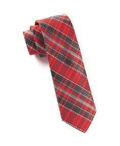 English Plaid Ties - Apple Red | Ties, Bow Ties, and Pocket Squares | The Tie Bar