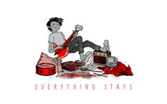 EVERYTHING STAYS +++ ADVENTURE TIME COVER(CLICK TO LISTEN)my bud Myles Black of Vancouver band Pale Red did a great cover of Everything Stays, originally by Rebecca Sugar for the Stakes miniseries. I drew a little Marshall for the occasion.