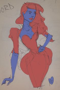 #art #draw #sketch #sketchbook #fashion #fashionsketch #fashionillustration #colour #corset #red #blue #laurenpartington #2013