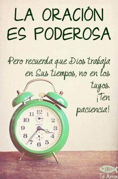 Oración y paciencia facebook.com/jesusteamamgaministries
