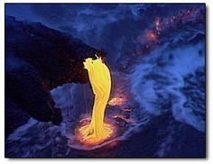 """Firehose lava"" formation, Black Sand Beach, Kalapana"