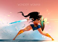 Drawing Dc Comics Wonder Women being a bad ass! Dc Comics, Anime Comics, Wonder Woman Art, Wonder Woman Drawing, Wonder Woman Comic, Character Drawing, Comic Character, Marvel Dc, Comic Books Art