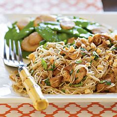 Spicy Asian Noodles with Chicken:  Such a great recipe, and not too bad for you either!