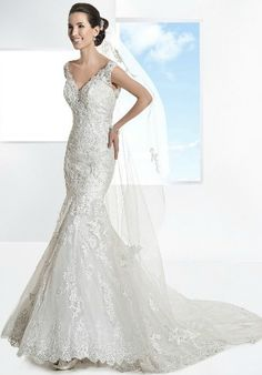 Demitrios '1453' Venice lace gown.  Size 12.  RRP £1495, You Pay £800. Immaculate sample