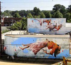 Amazing mural by Fintan Magee in Atlanta