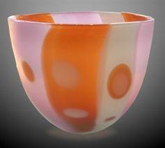 """Agate Bowl""  Blown Glass  Artist: William Shakspeare"