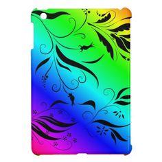 Rainbow Floral iPad Mini Cases