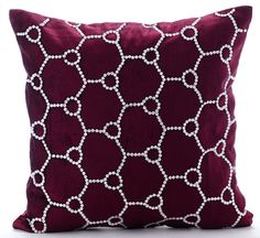 Purple Throw Pillow Covers 18x18 Inches Pillows by TheHomeCentric