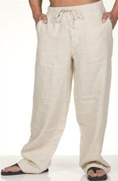 kaki linen pants for men | Linen Pants For Men | Linen | Pinterest ...
