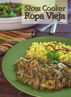 Slow Cooker Ropa Vieja...a classic Cuban stew of flank steak, peppers ...